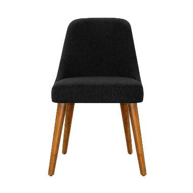 Olafur Vickie Dining Chair Kursi Makan - Charcoal Grey