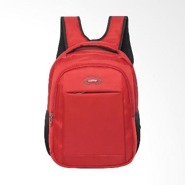 Real Polo FCGE Laptop Kasual Tas Ransel - Merah Red