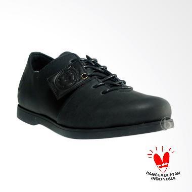 Bradley's Bradleys Houbis Kulit Boot Sepatu Pria - Hitam