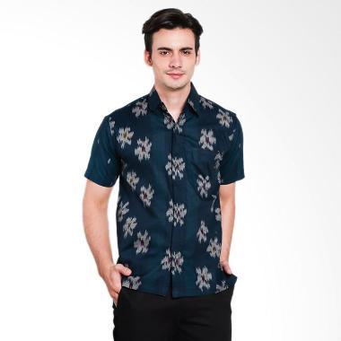 Batik Waskito Short Sleeve Cotton B ... ria - Green [HB LE 51172]