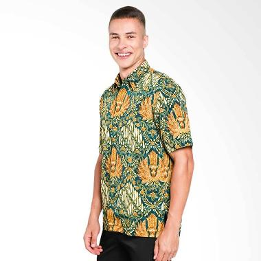 Batik Waskito Short Sleeve Shirt Kemeja Batik Pria - Green