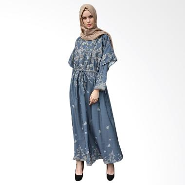 Ria Miranda Archie Dress Muslim - Blue