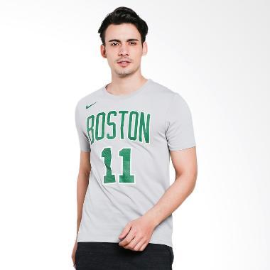 NIKE Men Basketball Kyrie Irving Boston Celtics Dry Tee Baju Basket Pria [AA2571-009