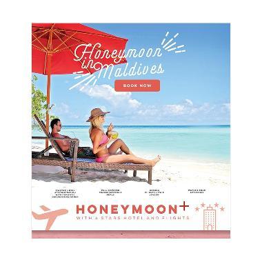Maldives Hemat Honeymoon 2018 Paket ... N/4 Stars Hotel + Flight]