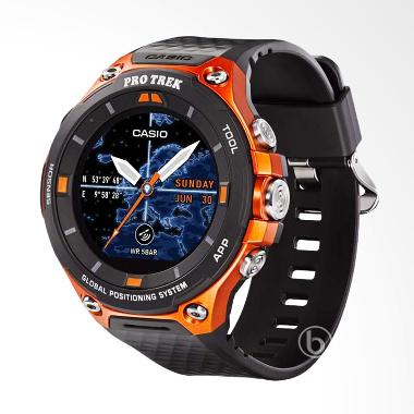 CASIO Protrek Run Android Wear Jam Tangan Pria - Orange [WSD-F20-RG]