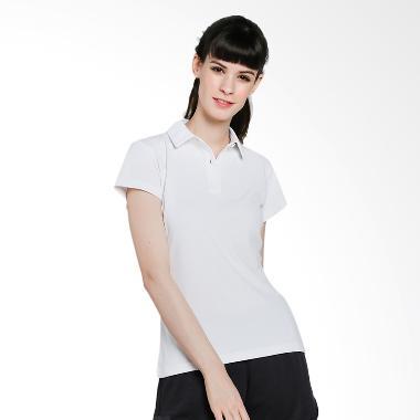 adidas Women Climachill Polo Shirt Pakaian Tennis Wanita - White [CE0371]