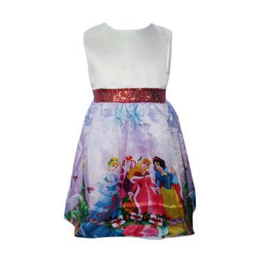 VERINA BABY Motif Princess Babydoll Dress Anak - Putih