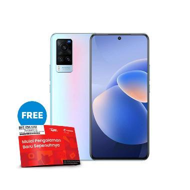 harga [Pakai voucher TELKOMSEL-BLIBLI] Vivo X60 Smartphone [8GB/ 128GB] + Powerbank & TWS robot Free SP Telkomsel BundlingMax Simmer Blue Blibli.com