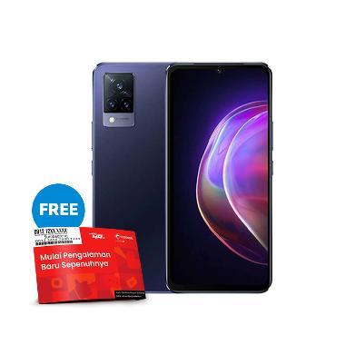 harga [Pakai kode voucher TELKOMSEL-BLIBLI] VIVO V21 5G Smartphone [8GB/128GB] + Powerbank & TWS robot Free SP Telkomsel BundlingMax Dusk Blue Blibli.com