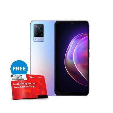 harga [Pakai kode voucher TELKOMSEL-BLIBLI] VIVO V21 5G Smartphone [8GB/128GB] + Powerbank & TWS robot Free SP Telkomsel BundlingMax Sunset Dazzle Blibli.com