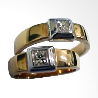 Pentacles TICI011 Wedding Ring Yellow Gold with Diamonds