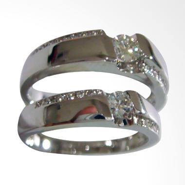 Pentacles PCI324 Wedding Ring White Gold with Diamonds
