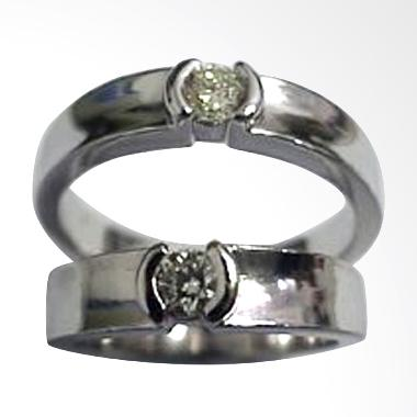 Pentacles TICI189 Wedding Ring White Gold with Diamonds