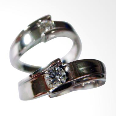 Pentacles SCI226 Wedding Ring White Gold with Diamonds