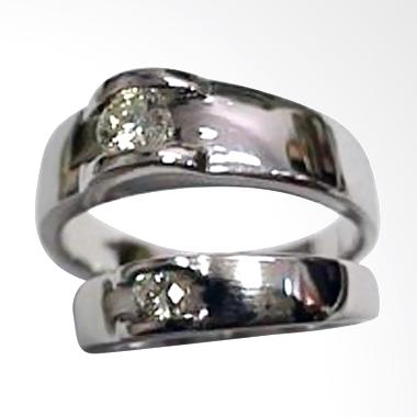 Pentacles PCI-187 Wedding Ring White Gold with Diamonds