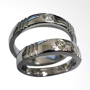 Pentacles TICI-266 Wedding Ring White Gold with Diamonds