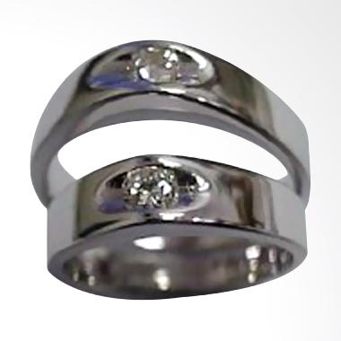 Pentacles TICI-87 Wedding Ring White Gold with Diamonds