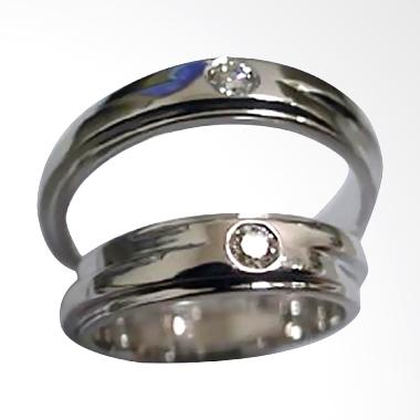 Pentacles PCI263 Wedding Ring White Gold with Diamonds