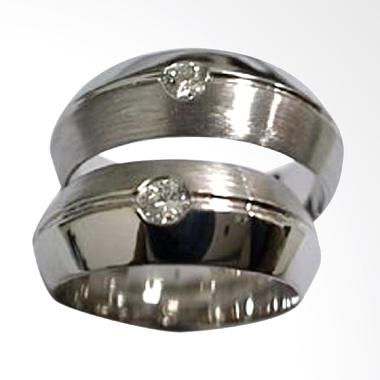 Pentacles TICI263 Wedding Ring White Gold with Diamonds