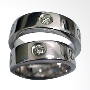 Pentacles TICI207 Wedding Ring White Gold with Diamonds