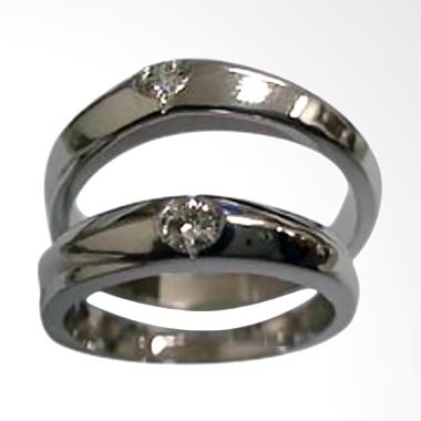 Pentacles GICI-08 Wedding Ring White Gold with Diamonds