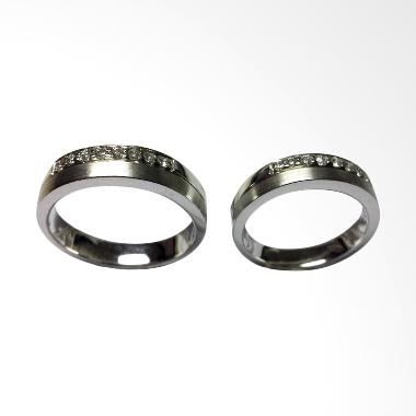 Pentacles PCI288 Wedding Ring White Gold with Diamonds