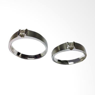 Pentacles PCI-314 Wedding Ring White Gold with Diamonds
