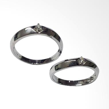 Pentacles SCI230 Wedding Ring White Gold with Diamonds