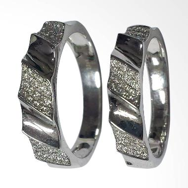 Pentacles SCI227 Wedding Ring White Gold with Diamonds
