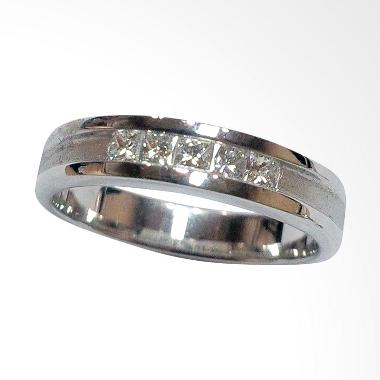 Pentacles FC00573 Wedding Ring White Gold with Diamond