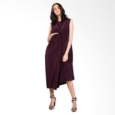 Nikicio Kalem Panjang Dress - Dark Violet