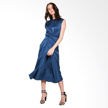 Nikicio Kalem Panjang Dress - Metallic Blue