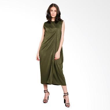 Nikicio Kalem Panjang Dress - Green On Green Snake Skin