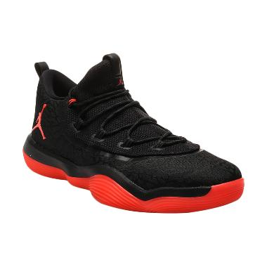 NIKE Men Basketball Jordan Super Fl ...  - Black Red [AA2547-023]