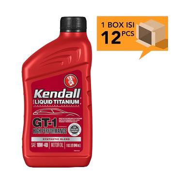 Kendall GT 1 High Performance Synthetic Blend Oli Pelumas Mobil SAE 10W 40
