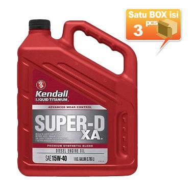Kendall Super D XA Premium Synthetic Blend SAE 15W 40 Diesel Engine Oli Pelumas