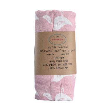 Hoppipollakids Selimut Muslin Swaddle Bedong Bayi - Pink Bird