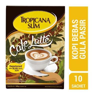 harga Tropicana Slim Cafe Latte (isi 10x14g/ 140 gr) Blibli.com