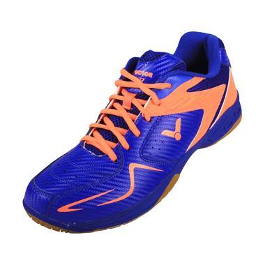 Victor Sepatu Badminton - Blue Orange [AS 32 BO]