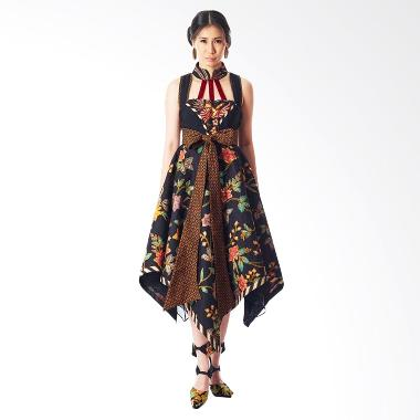 Anne Avantie Sekar Gita Batik Dress - Black