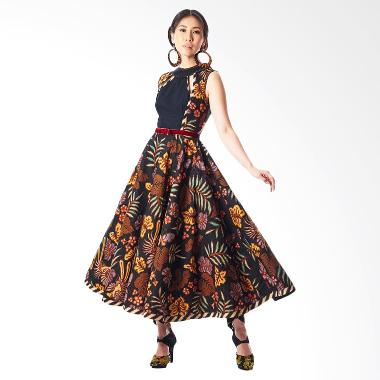 Anne Avantie Sekar Wijaya Batik Dress - Brown Black
