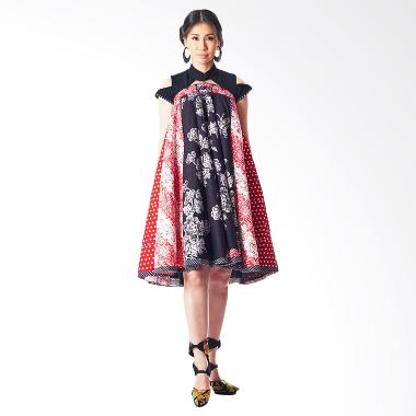 Anne Avantie Arsanti Batik Dress - Black Red
