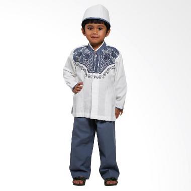 Hafiz Kids Baju Koko Muslim Anak Set - White