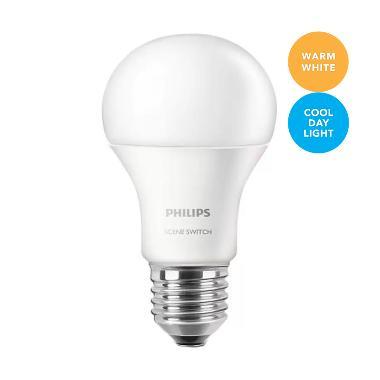 Philips LED Bulb Scene Switch 9.5 Watt Kuning & Putih