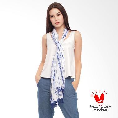 Benangsari Rinna Scarf Selendang Batik Shibori Wanita - Putih