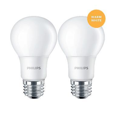 Philips Lampu LED Bulb 5 (50W) Warm White/Kuning - 2 Pcs