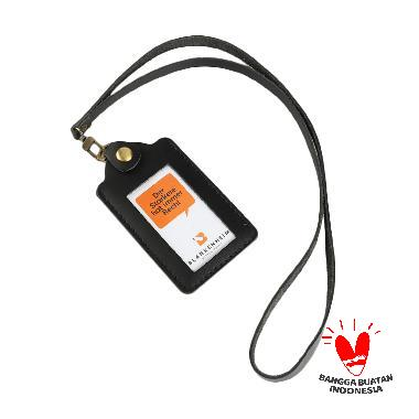 harga BLANKENHEIM Leather ID Card Holder - Black [Original] Blibli.com