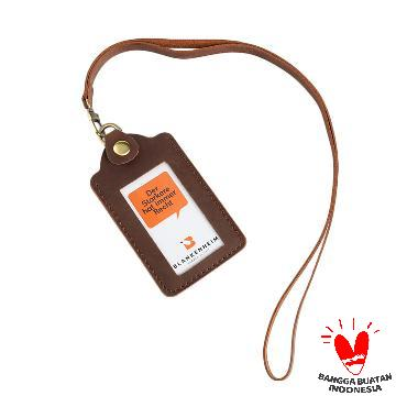 harga BLANKENHEIM Leather ID Card Holder - Vintage Dark Brown [Original] Blibli.com