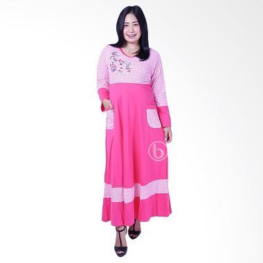 Mama Hamil GMS 250 Kotak Rose Kaos Gamis Hamil - Pink