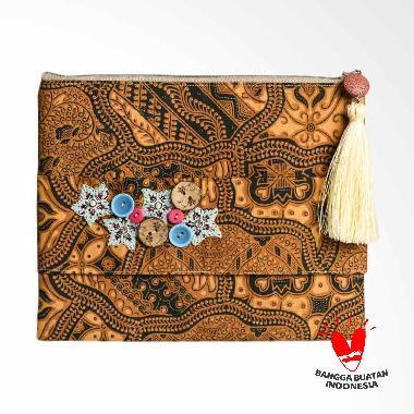 Origo Batik Pouch Bag - Brown [25 x 20 cm]